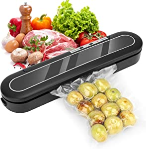 Vacuum Sealer Machine, Automatic Vacuum Sealing System Compact Food Sealer for Food Preservation, Led Indicator Light, Easy to Clean, Food Sealers Vacuum Packing Machine Suitable for Dry & Moist Food