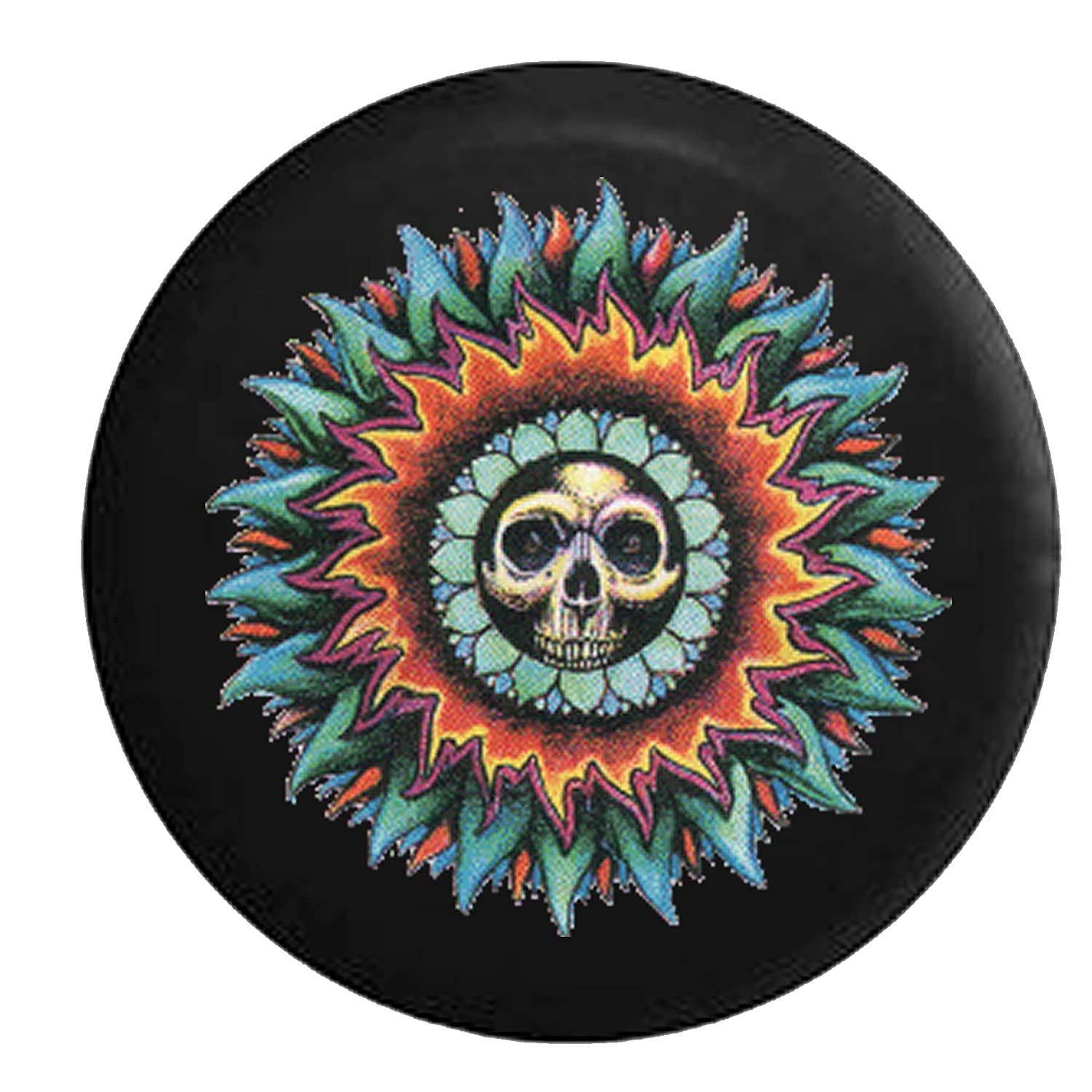 Vintage Skull In the Sun Spare Jeep Wrangler Camper SUV Tire Cover 33 in