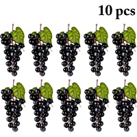 JUSTDOLIFE Uvas Artificiales Decorativas Frutas Falsas Decoración