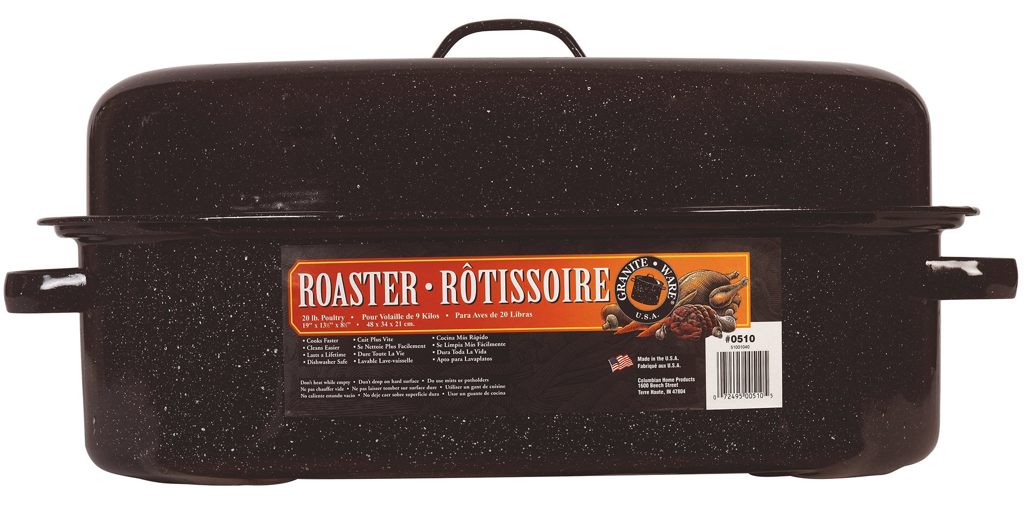 Granite Ware 19-Inch Covered Oval Roaster