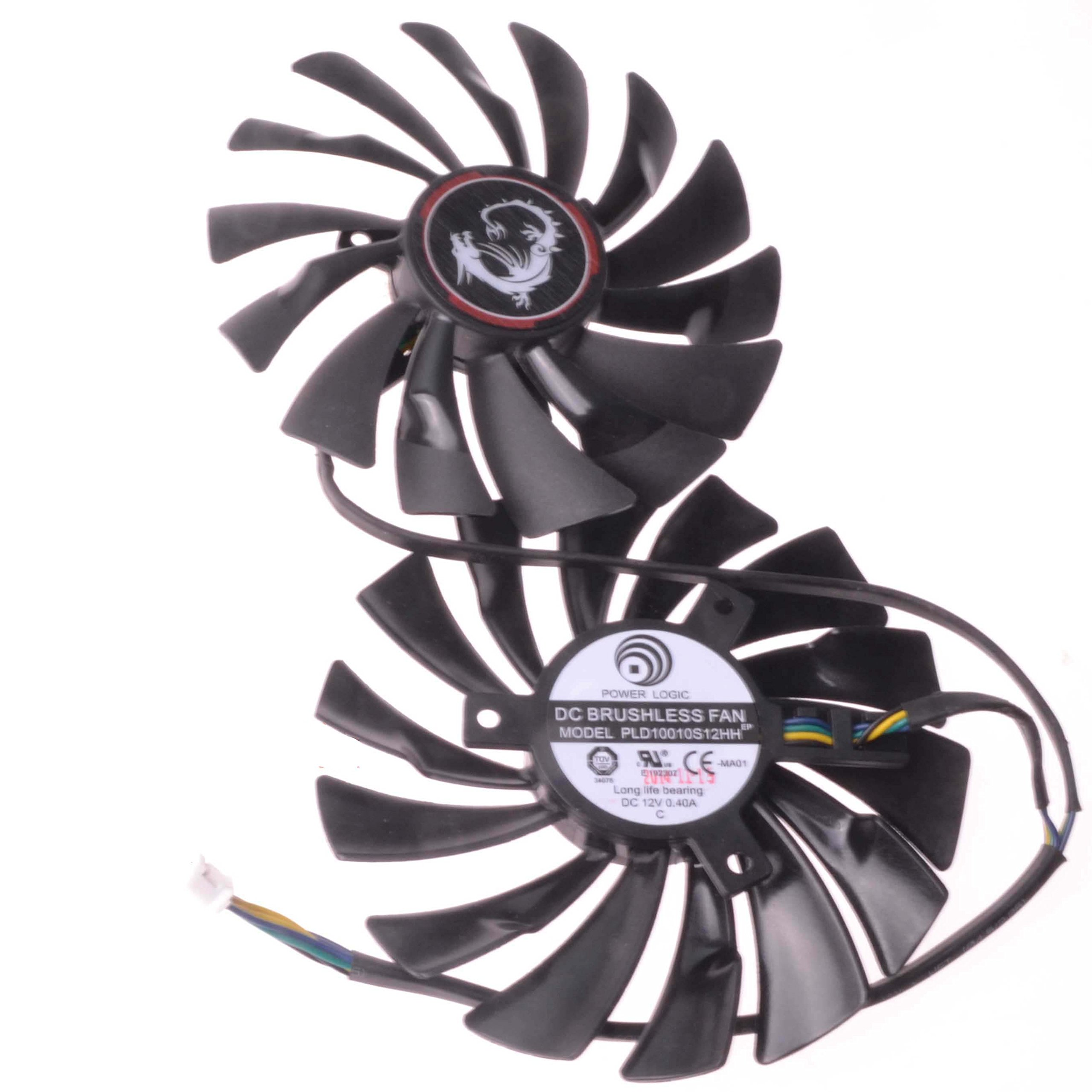 Replacement Video Card Cooling Fan For GTX970 GTX980 GTX980Ti Graphics Card Fan PLD10010S12HH 12V 0.4A 95mm 6 Wire 6 Pin