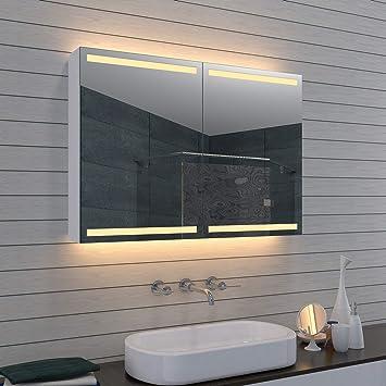 Lux-aqua Alu Badezimmer Spiegelschrank Badschrank Kosmetikspiegel ...
