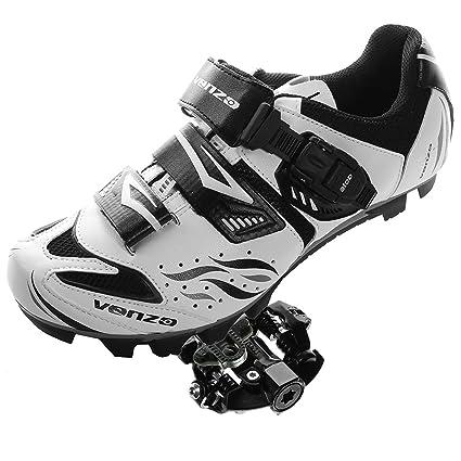 Amazon Com Venzo Mountain Bike Bicycle Cycling Shimano Spd Shoes