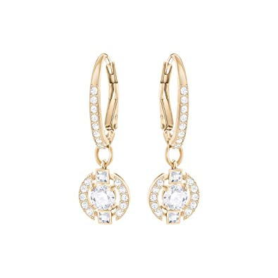 d267b9b20 Swarovski Sparkling Dance Round Pierced Earrings, White, Rose gold plating