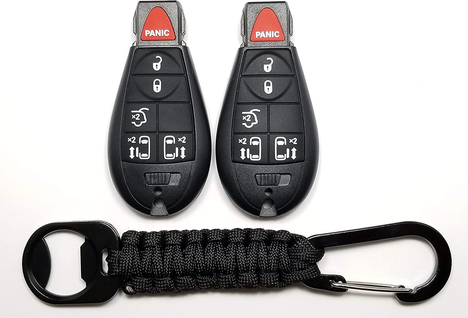JalopyTrade 6 Button Key Remote Control Replacement Fob Transmitter Fits for 2008-2010 Dodge Ram 2008-2013 Jeep Grand Cheroke