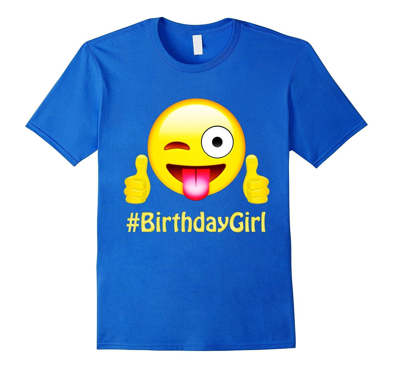 Emoji Birthday Girl TShirt Gifts for Cute Girls Party