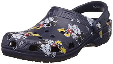 Crocs Unisex Classic Mickey Clog Mule, Multi,4 US Men's/6 US Women's