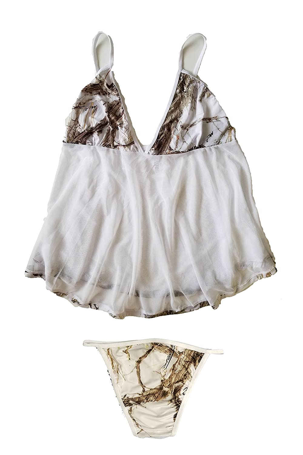 2e5a988db4 SHORE TRENDZ True Timber Camo Baby Doll Lingerie Set at Amazon Women s  Clothing store