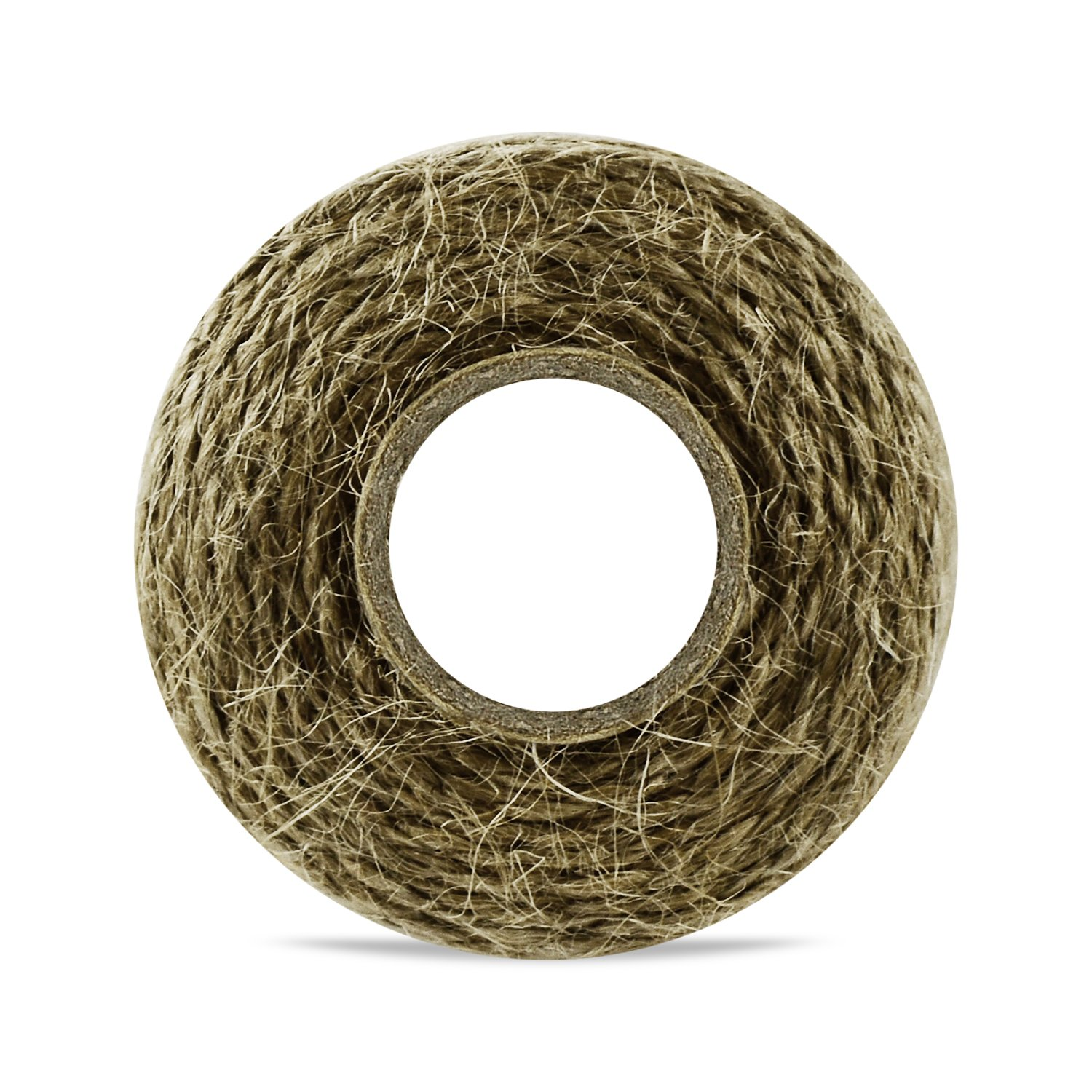 QuWei 3x 300 Feet Natural Jute Twine Best Arts Crafts Gift Twine Christmas Twine Industrial Packing Materials Durable String for Gardening Applications (3PC)