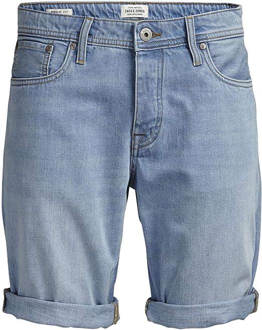 New York prezzo più basso con ultima moda JACK & JONES Bermuda Rick Denim Chiaro: Amazon.it: Abbigliamento