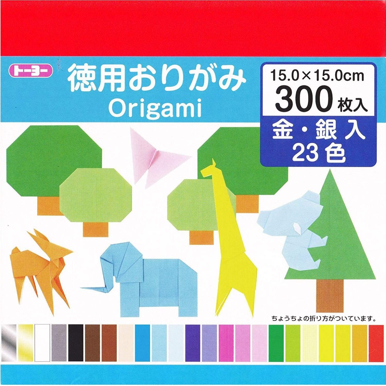 Toyo Origami Paper, 23 Colors, 300 Sheets 090204