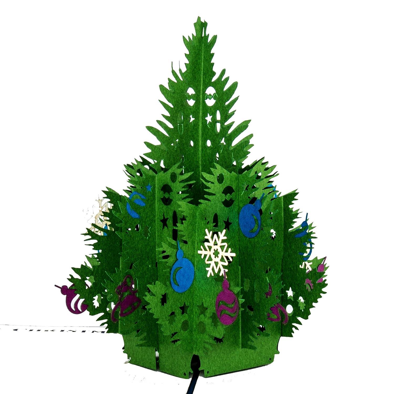 Pop Up Karte Tannenbaum.Weihnachtskarte Tannenbaum Classic Frohe Weihnachten