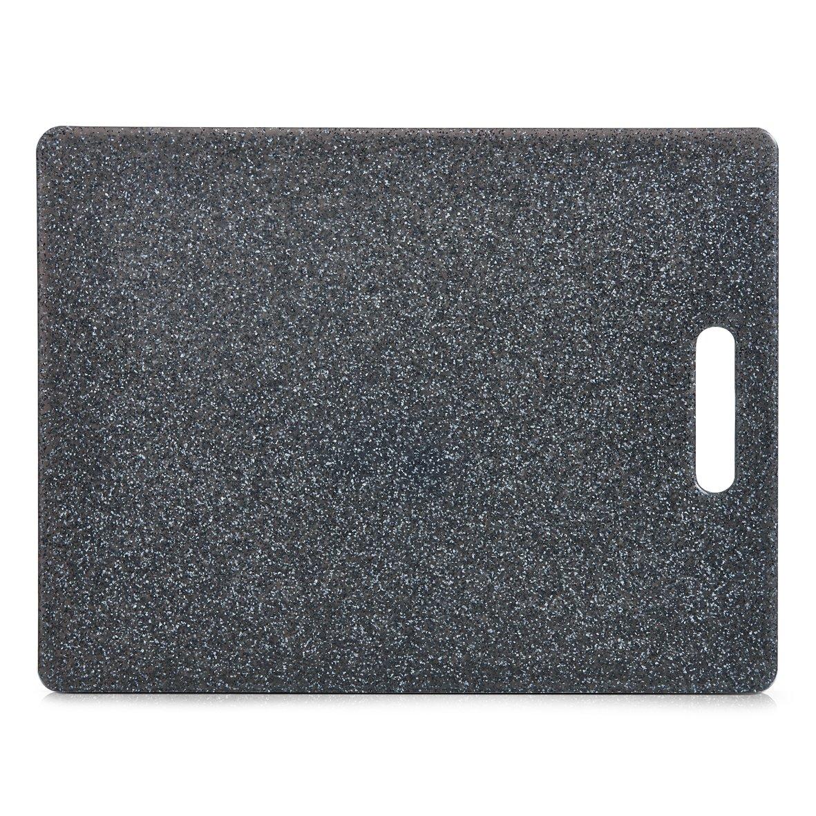 Zeller 26057 Tabla para Cortar, Gris, 36.5x27.5x3 cm