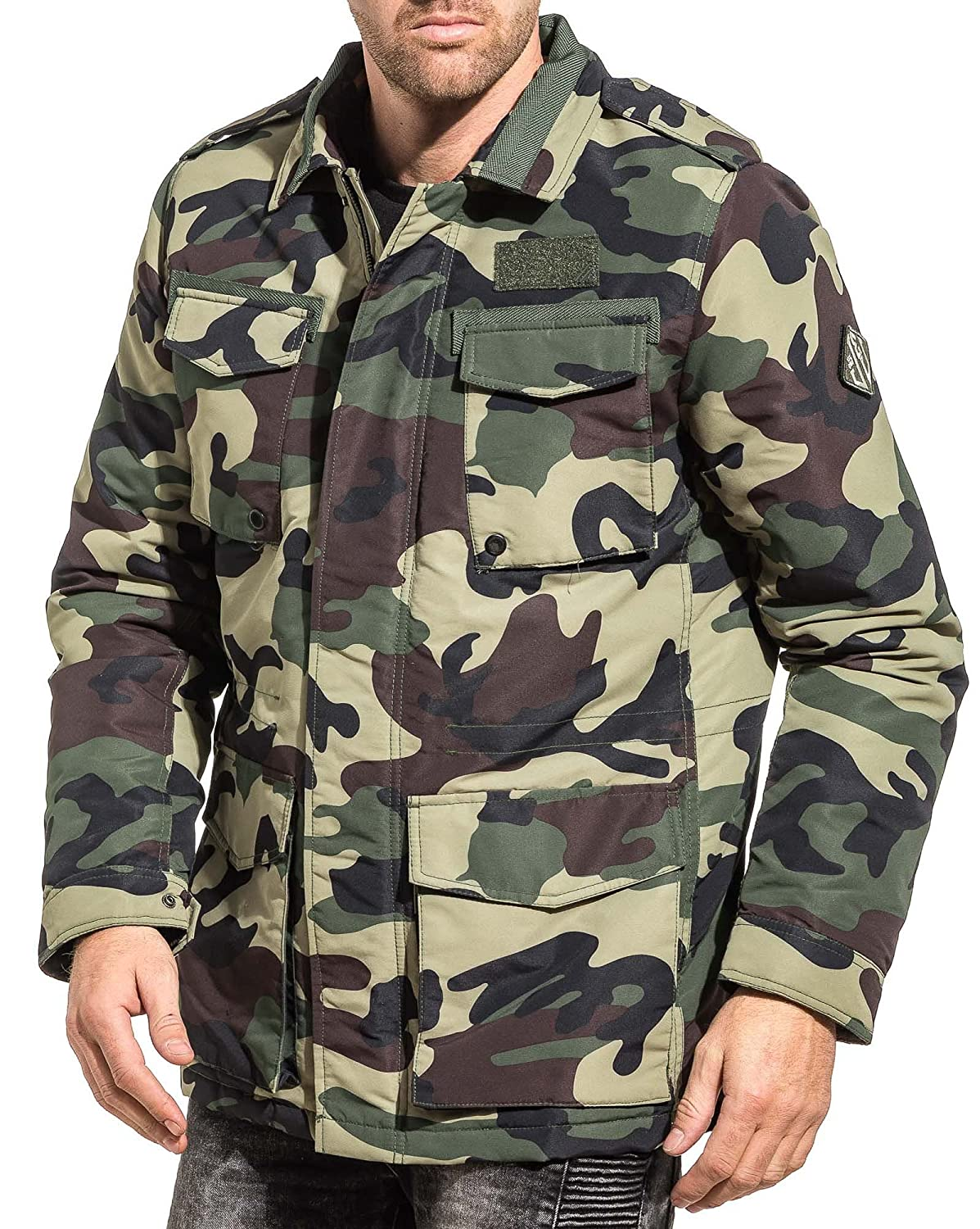 Jack CouleurVert And Camouflage Veste Jones Kaki Army Homme D2HEYW9I