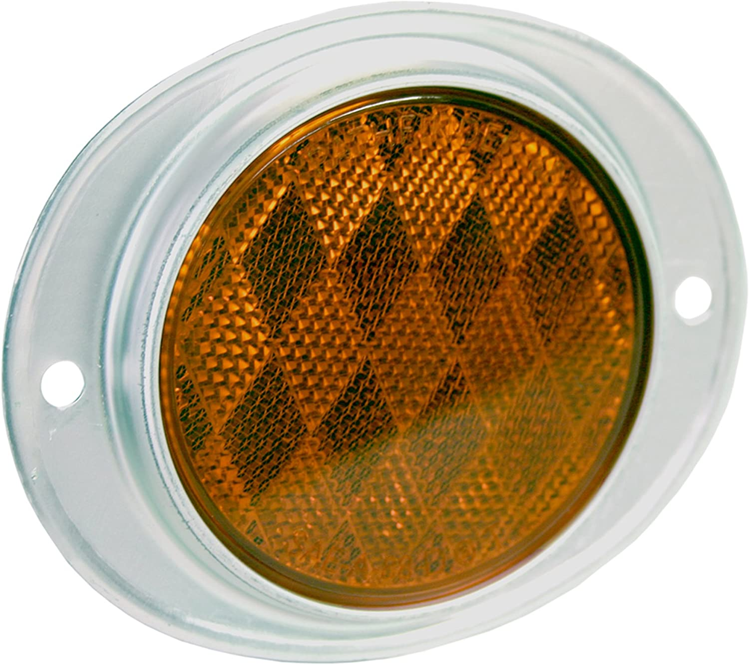 Peterson Manufacturing V472A Amber 3 Aluminum Oval Reflector