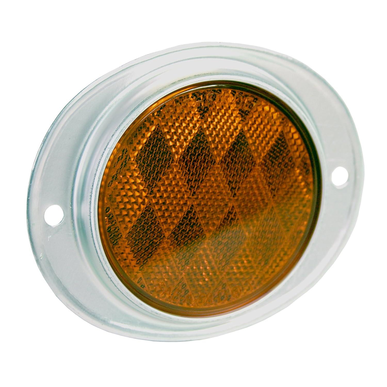 Blazer B888A Amber Oval Aluminum Reflector-1 each