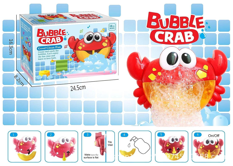 Genossen Badewannenspielzeug Seifenblasenmaschine Automatisch Musik Babyspielzeug Spielzeug ab 18 Monate für die Badewanne (12 Kinderreime)