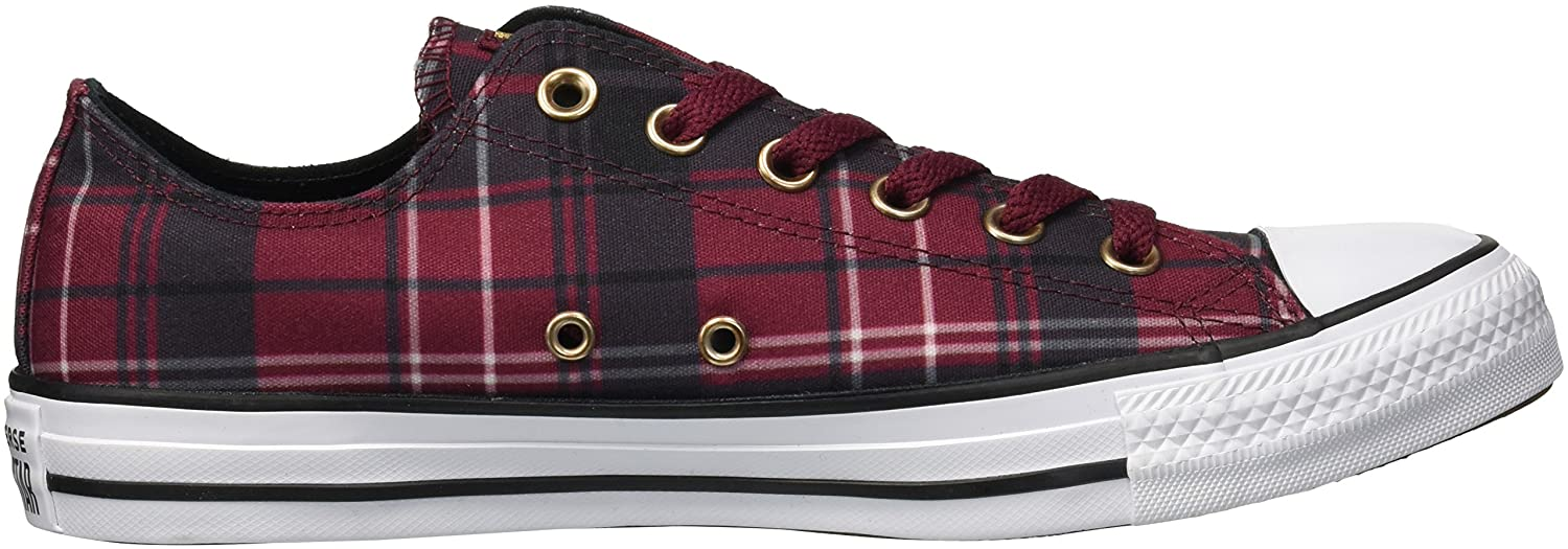Converse Women's Chuck Taylor All Star Plaid Low M Top Sneaker B078NGN8KN 6 M Low US|Dark Burgundy/Black/White 623c42