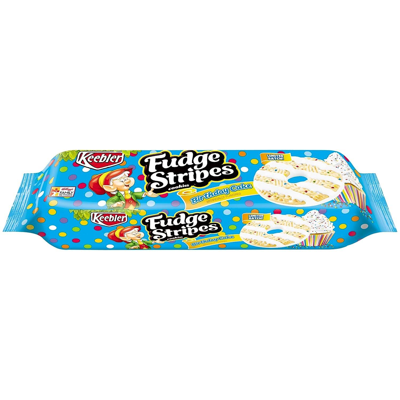 Amazon Keebler Fudge Stripes Birthday Cake Cookies 115 Oz Grocery Gourmet Food
