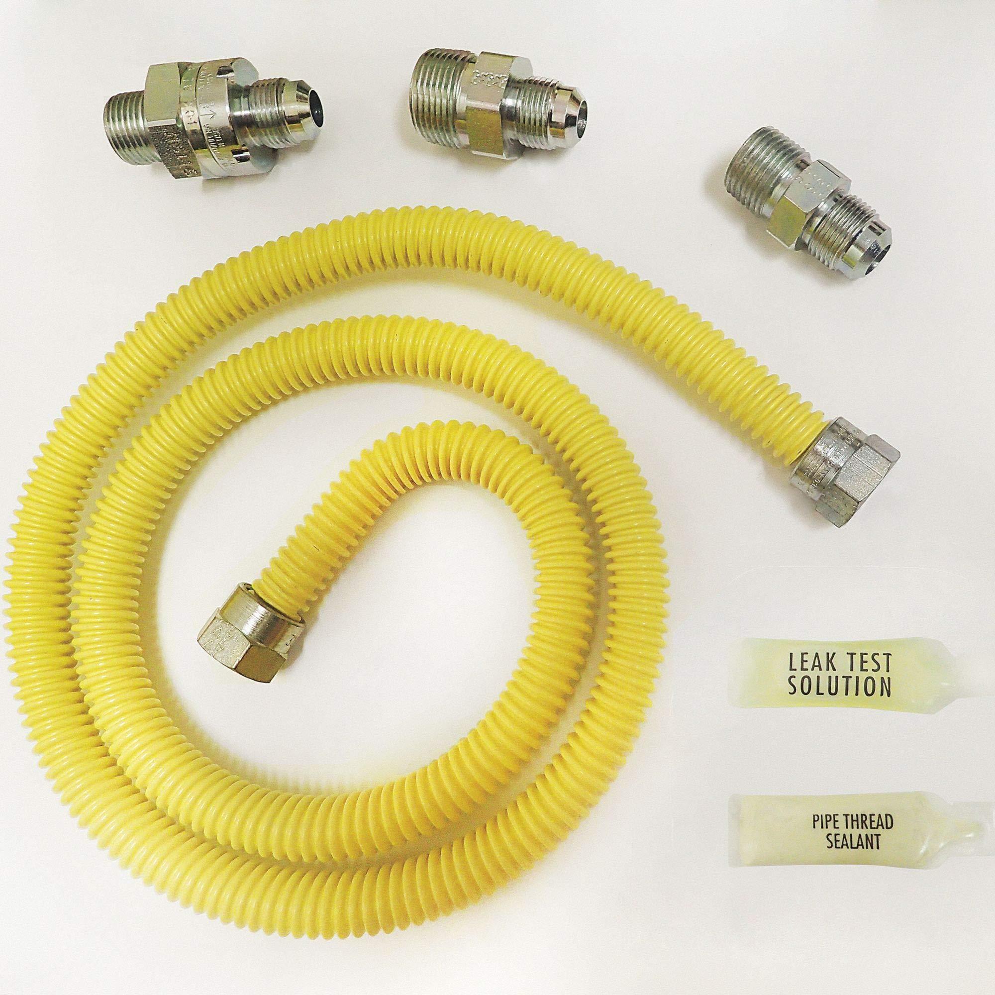 Gas Flow Valve Kit, Stainless Steel, 48''L x 1/2''