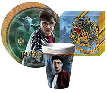 Harry Potter Deathly Hallows Party Supplies Pack Including Plates