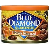 Blue Diamond Almonds, Honey Roasted, 6 Ounce (Pack of 6)