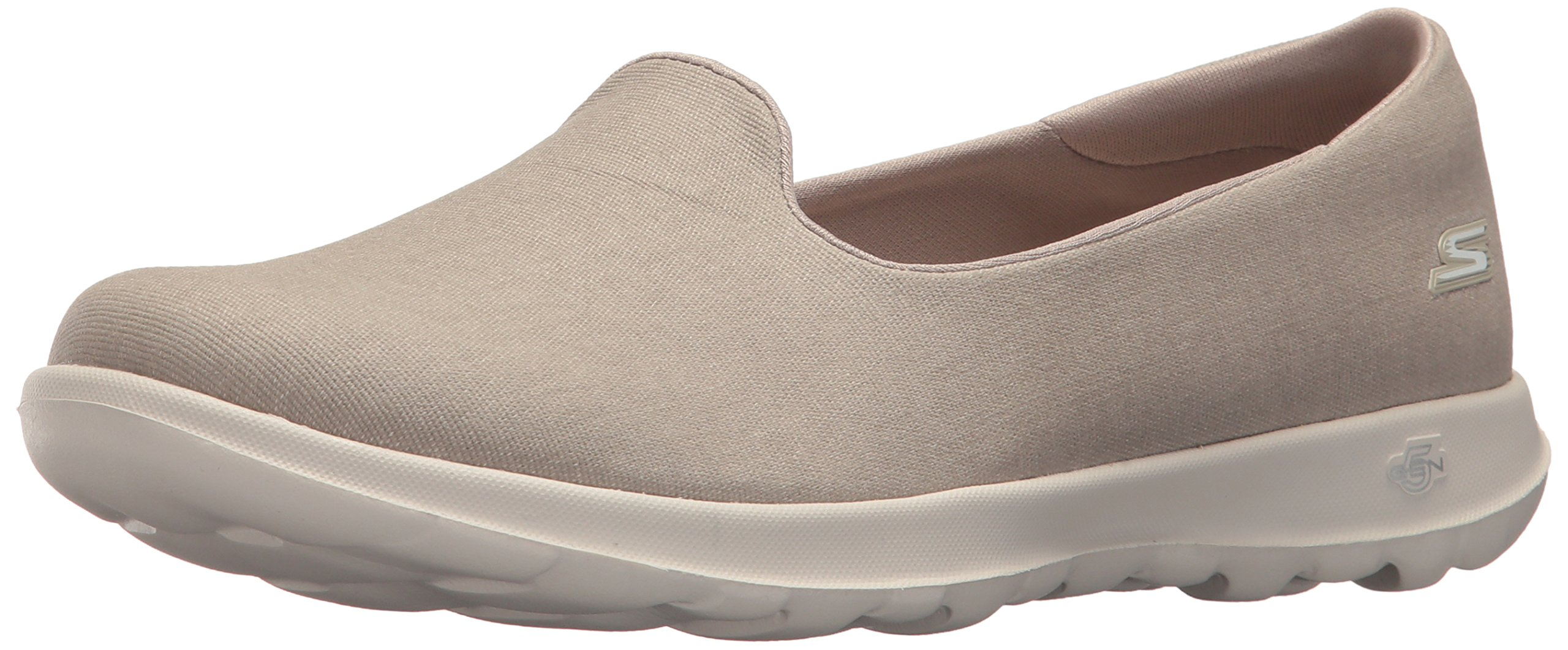 Skechers Performance Women's Go Walk Lite-15411 Loafer Flat,Taupe,8 M US