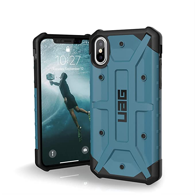 designer fashion 3d013 167d4 URBAN ARMOR GEAR UAG iPhone Xs/X [5.8-inch Screen] Pathfinder-Light Rugged  [Slate] Military Drop Tested iPhone Case