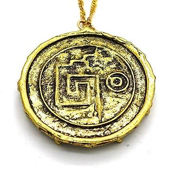 Pirates Vintage Du Collier Cara Bes Aztec Skull Coin Pendentif