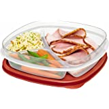 Divided Storage Container , Red : Rubbermaid Easy Find Lids Divided Food Storage Container