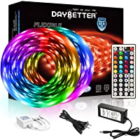 DAYBETTER Led Strip Lights 32.8ft 5050 RGB LEDs Color Changing Lights Strip for Bedroom, Desk, Home Decoration, with…