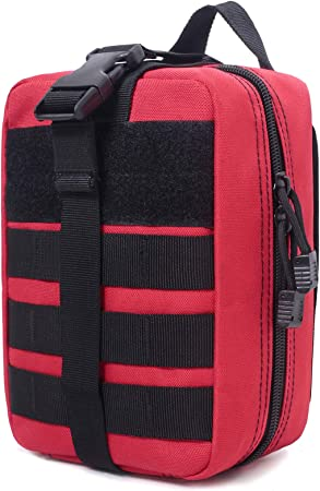 Honestptner Molle Pouch, Durable 600D Nylon Tactical Medical Pouch,Rip-Away EMT First Aid Pouch (Bag Only)