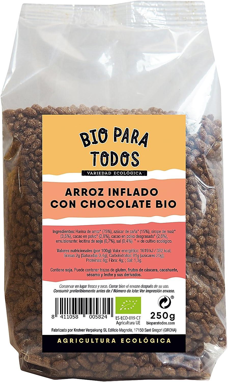 Bio para todos Arroz Inflado de Chocolate Bio - 10 Paquetes ...