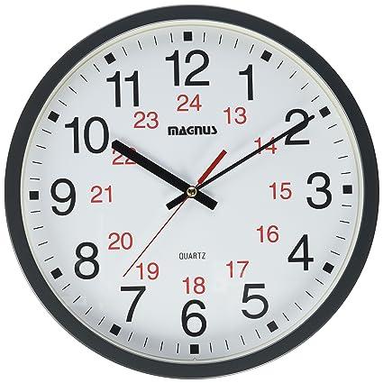 Amazon.com: Dainolite 22502-BK 12/24 Hour Clock, Black: Home ...