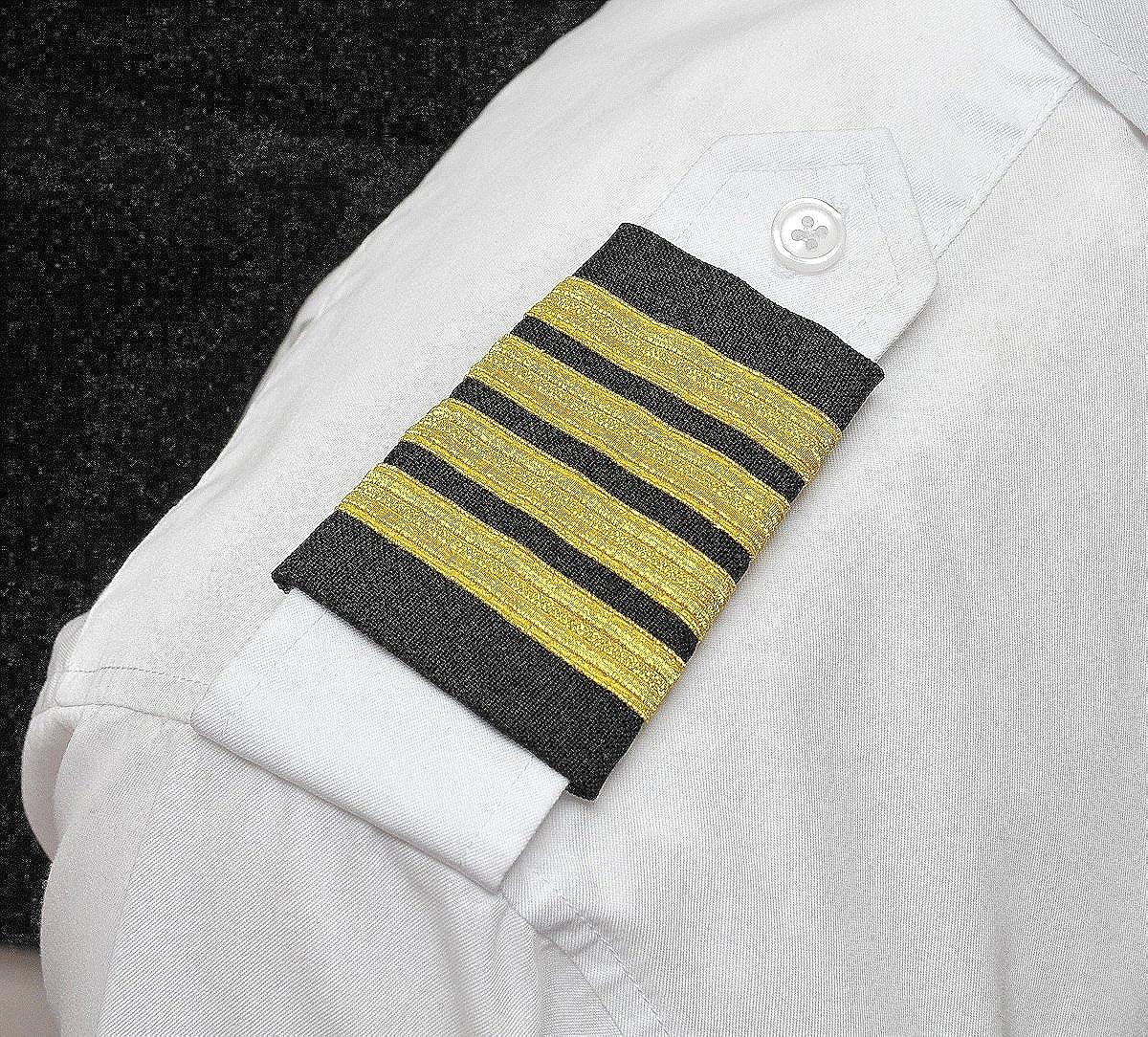 Aerophoenix Pilot Four Bar Velcro Epaulets Captain