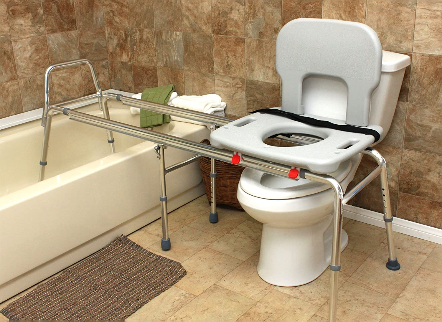 Amazon.com: Eagle Health Supplies - Toilet-to-Tub Sliding Transfer ...