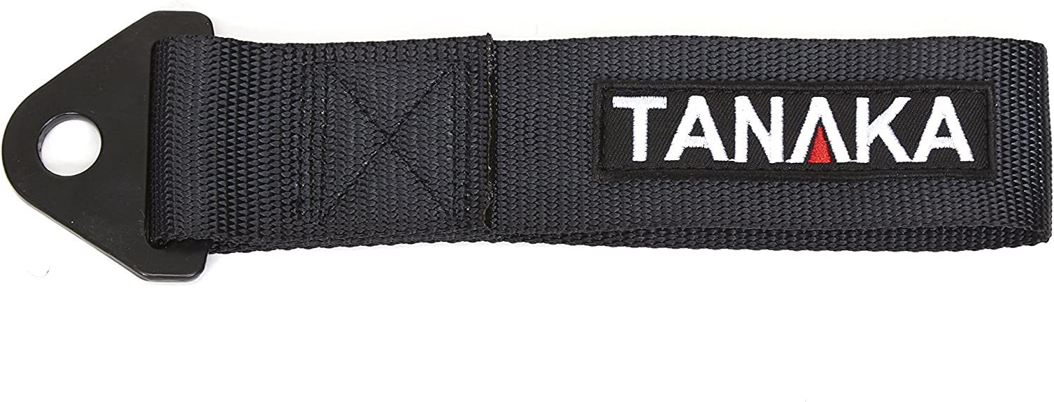 Personalize JDM Tow Strap,Car Modification Sports Trailer belt with Combination of ancient Japanese Antiquity Element and Cents Crane Traction Rope Trailer Hook Fit for Decorative Trailer Belt(Black)
