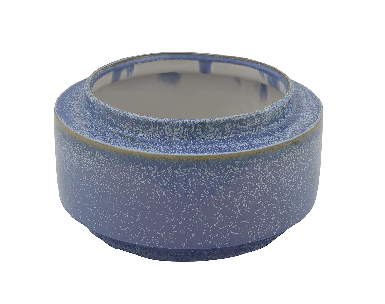 Bloomingville Creative Co-Op Round Blue Stoneware 05-Flower Pots