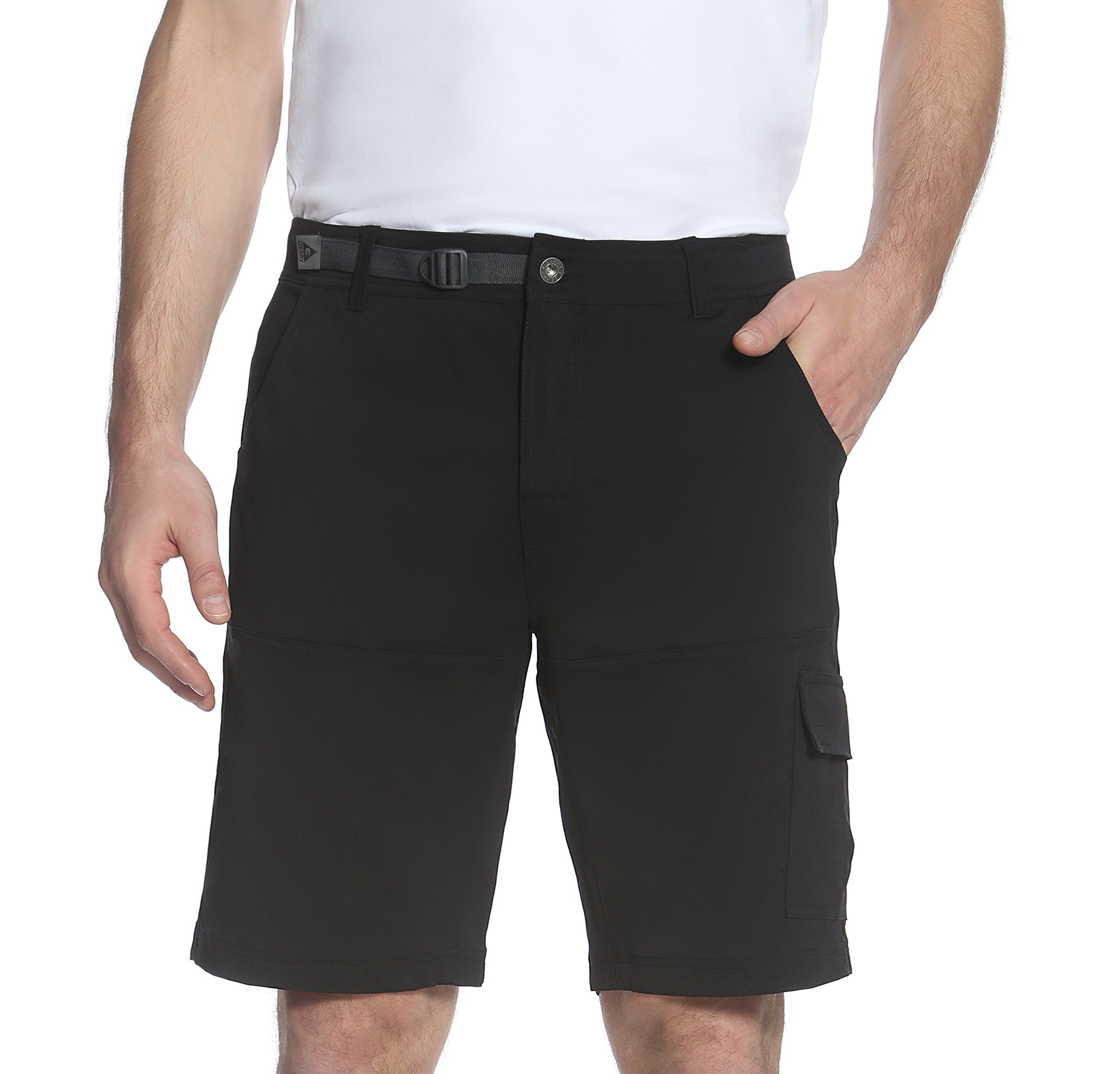 Gerry Men's Venture Flat Front Stretch Cargo Short (Slate, 34) by Gerry