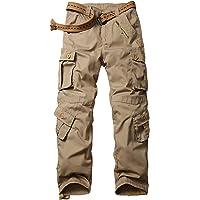 SIGAWN Pantalones tácticos para hombre, pantalones militares, para senderismo, casual, camuflaje para hombres con…