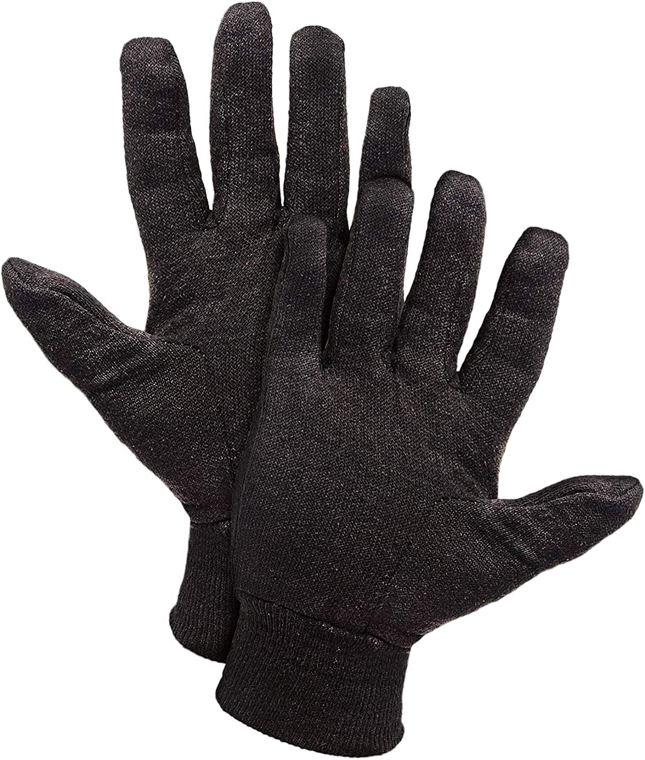 Reusable Jersey Gloves with Elastic Knit Wrist. Cotton Polyester Gloves. Plain Breathable Gloves. Industrial Work Gloves