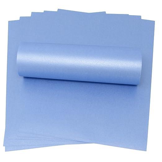 20 hojas de papel A4 Maya azul perlado brillante 100 g/m² ...