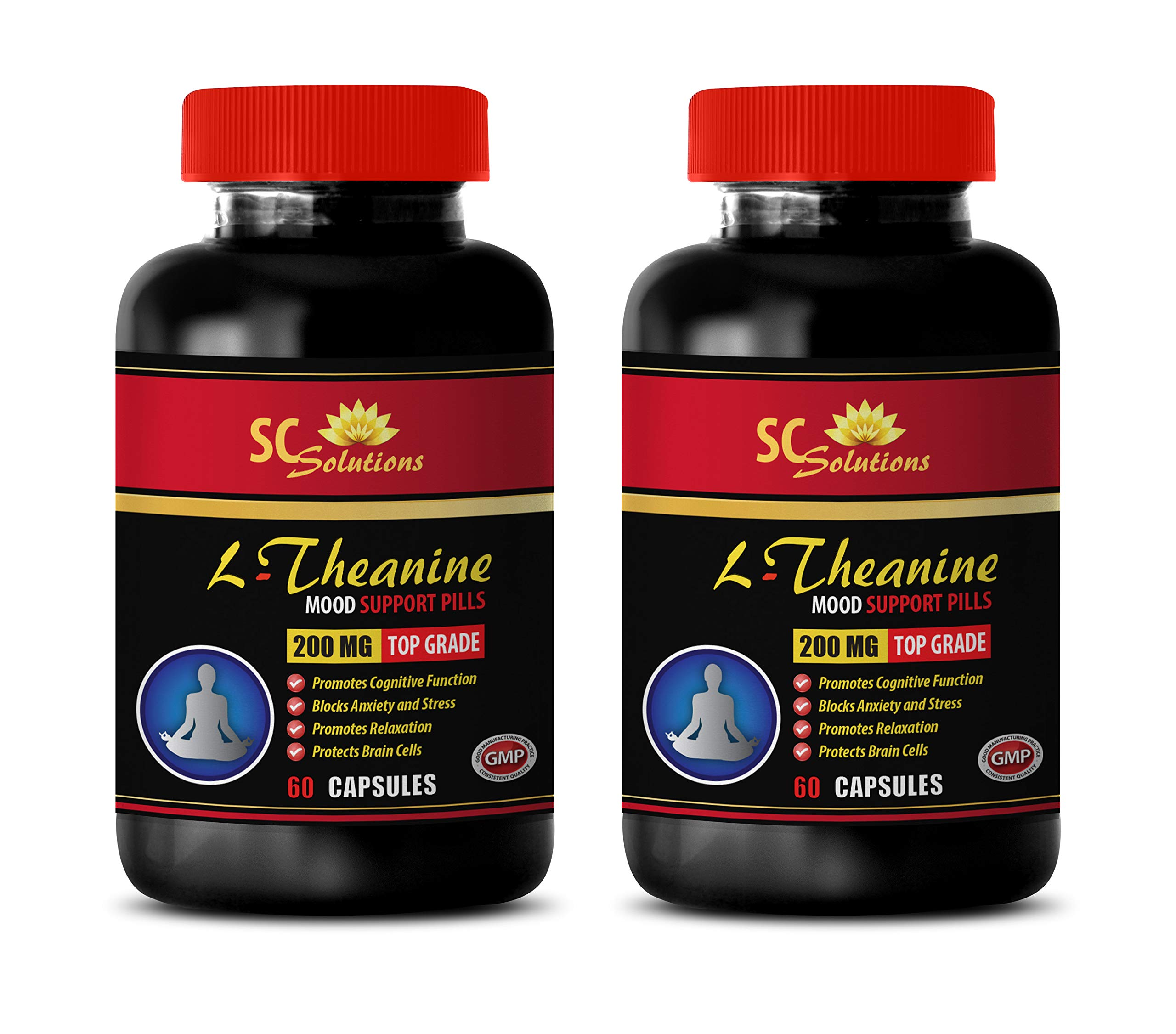 Sleeping aid Natural - L-Theanine 200MG - Energy Booster - 2 Bottles (120 Capsules)