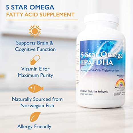 Amazon.com: 5 Star Omega EPA & DHA | Essential Fatty Acid Supplement for: Joint Health, Heart Health, Brain Health, Metabolic Health, and Generation of ...