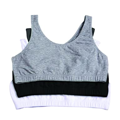 83ea4bb5e3 Amazon.com  Fruit of the Loom Big Girls  Cotton Built-Up Sport Bra ...