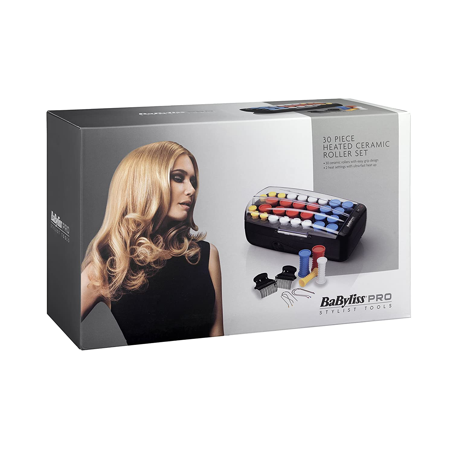 BaByliss Pro Heated Ceramic Roller Set - Pack of 30 Pieces BAB3031BU