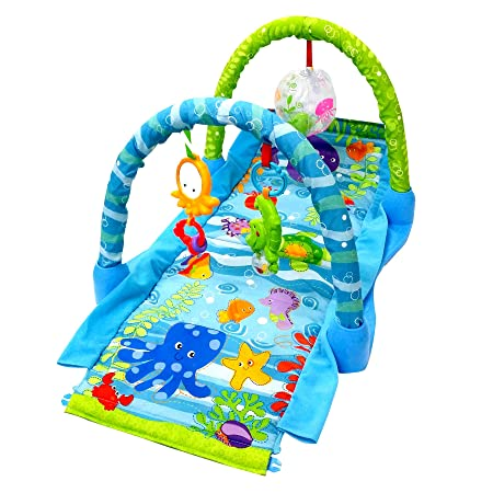 Toyshine 3 in 1 Grows with Baby Play Mat, Musical Gym for Kids Activity Play Centres at amazon