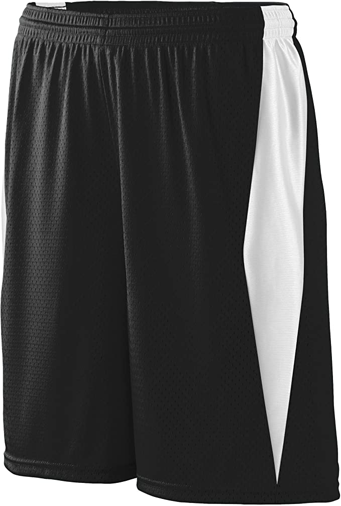 Black//white Augusta Reversible Wicking Game Short-youth