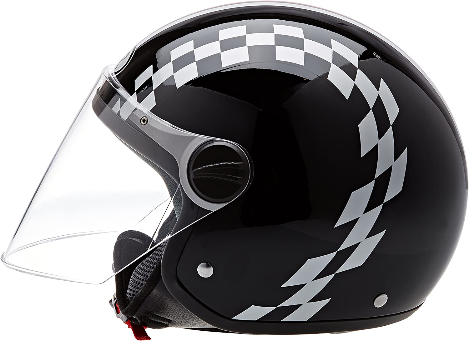 61 Racing BHR Helm 710 Demi Jet Casco
