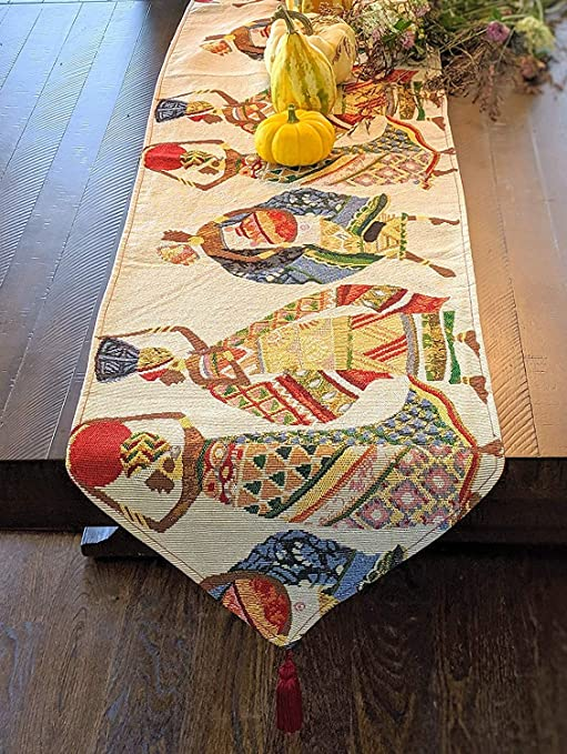 DaDa Bedding Set of 4 Dancing African Women Dream Tapestry Table Cloth Placemats